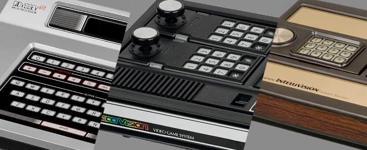 The Magnavox Odyssey 2, ColecoVision, and Mattel Intellivision