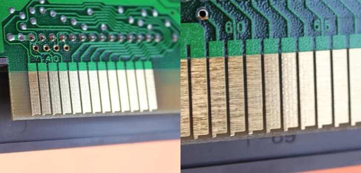 The way clean NES cartridge contact pins should look