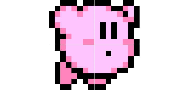 Kirby pixel art enlarged