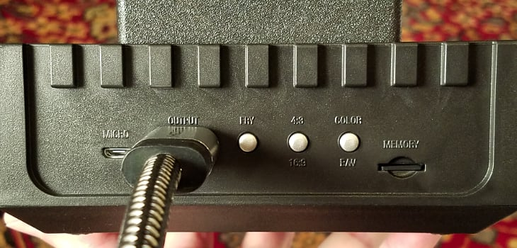 The buttons on the back of the RetroN 77 change function when you update the firmware