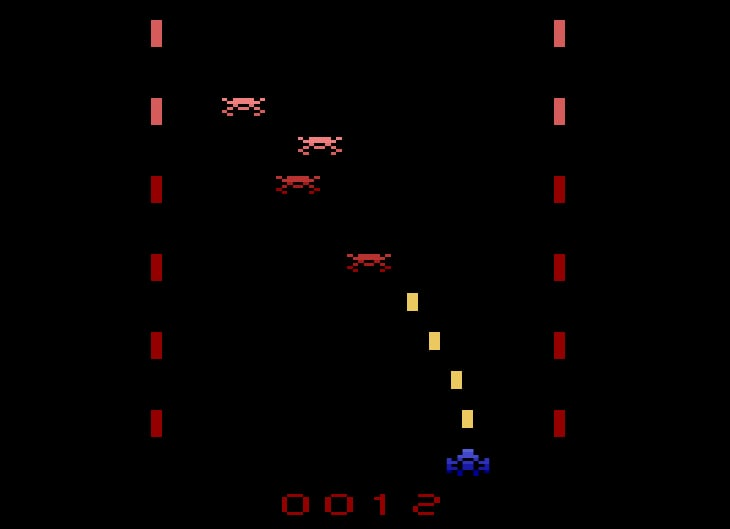 Lead is a fast-paced canyon shooter for the Atari 2600