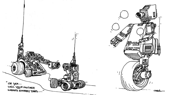 Beker Bot illustrations from BASIC Computer Games