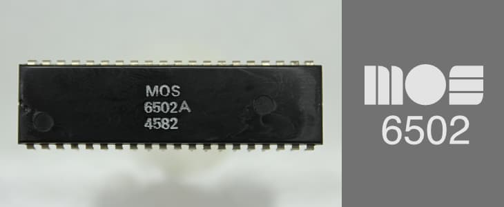 The famous MOS 6502 microprocessor chip