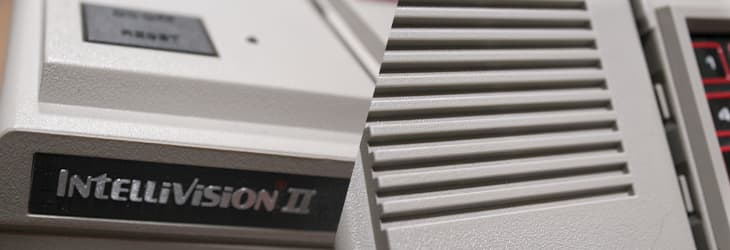 My Intellivision II console in closeup after detail cleaning with a toothpick