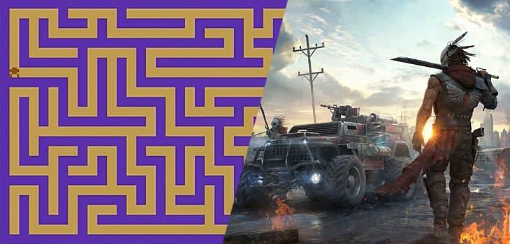 Atari 2600 Maze Craze vs hyper-realistic simulation