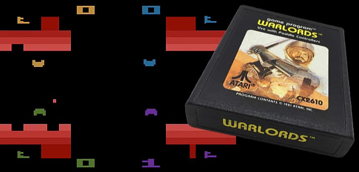Warlords on the Atari 2600 exemplifies powerful fun with primitive graphics