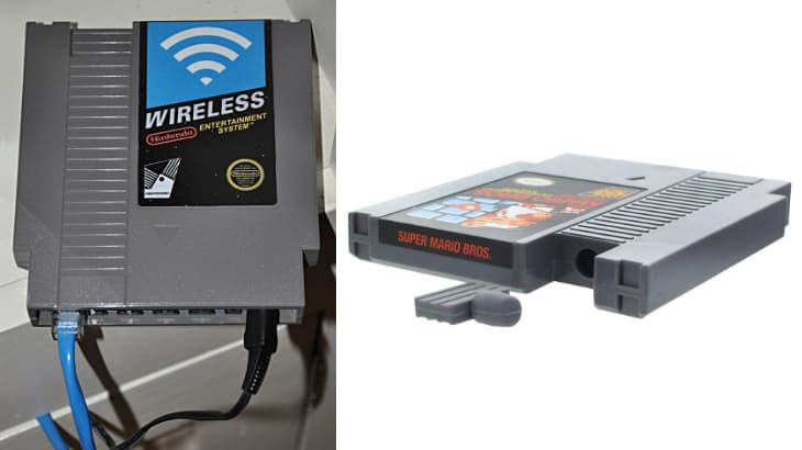 NES cartridge flask and DIY wireless router enclosure